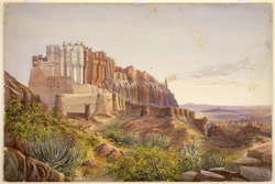 W. view of Jodhpur Fort (Rajputana)